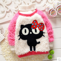 Retail 2014 girls fashion sweaters kids children's clothing girl's sweater 3 colors