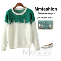Free shipping autumn and winter women's fresh brief knitted sweater outerwear jacket