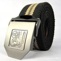 freeshipping Fashion Belts Wholesale tank crews outdoor sports canvas belt tactics male bird style belt