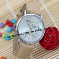 100pcs/lot wholesale price good quality watches fashion girl woman unisex lady children cute funny word wrist watch wristwatch