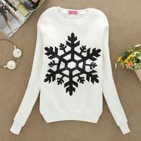 Hot Women's Sweatshirts Snowflake Hoodies Pullovers Top Blouse Sport Suit Women Hoody Winter Warm Sweat Shirts Sv18 Cb031611