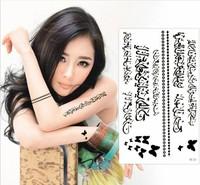 Hot Sell new Black Waterproof Tattoo Sticker Arabic Totem Tattoo Temporary Tattoos Body Art Tattoo For Women Men RF35