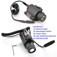 BOB-JGSD 650nm / <5mw / 200 lumen (LM) Hunting Optics LED Flashlight Combo Red Laser Sight