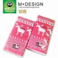 2014 NEW Fashion Cartoon pattern printing (2pcs) glossy paper Paper Napkins & Serviettes