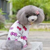 Pet Dog Cotton Pajamas Puppy Soft Cartoon Printed Clothes Jumpsuit Shirt Apparel