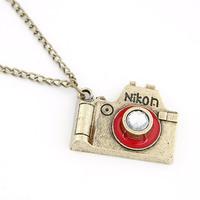 Christmas Gift Sale Vintage Pendant Necklace 2014 New Korean Fashion Slr Camera Necklaces & Pendants For Women Jewelry Wholesale