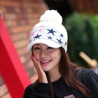 Free shipping 1 pcs 2014 hot sell women winter warm hat Thick outdoor cycling masks stylish cap 6 colors
