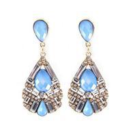 Wholesale Jewelry Fashion Rhinestone Floral Drop Earrings Designer Women Gems Brincos Bijoux Date Party 8577