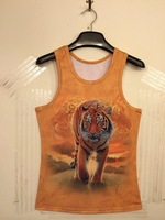 NEW 2014 FashionTiger Animal Printing Sexy 3D Top Women/Men 3d vest shirts women tees Plus Size S/ M/L/XL Free shipping