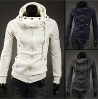 2014 autumn winter new men brushed hooded sweatshirt cardigan sweater zipper sweater coat hoodies