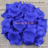 500pcs Navy Blue Silk Rose Petals Rose Flower Engagement Wedding Christmas Party Favor Table Decoration