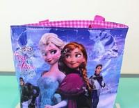 Frozen princess Children's cartoon nylon  handbag shoulder bag shopping bag waterproof bag for girl
