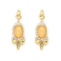 2 colors Orange Green Vintage Earrings Crystal Big Earrings for Women Imitated gemstone jewelry CE117