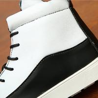 A112 2014 Autumn Korean men's shoes British tide male student sports men shoes men black/white color PU and cotton material