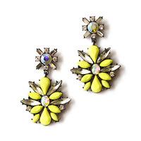 Vintage Earrings Yellow Crystal Big Earrings for Women Imitated gemstone jewelry CE115