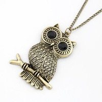 2014 Sale New Christmas Gift Collar Collares Fashion Sweet Owl Long Pendant Necklace Sweater Chain For Women Jewelry Wholesale