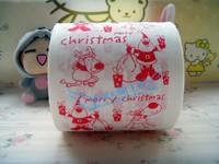 Merry Christmas Cartoon little Red Graffiti 1 pcs Santa Claus Personalized fashion presents  multicolour print toilet paper gift