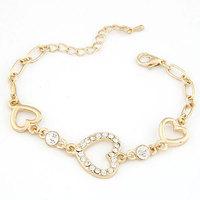 Pulseiras Femininas Real Freeshipping Bracelets For Women Pulseira Masculina 2014 New Fashion Sweet Love Bracelet For Woman