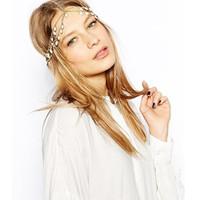 Fashion Flower Hair Crown Headband Head Crown White Crystal Hair Jewelry Head Chain CF090 coupon