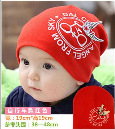 Cotton Baby Hat Baby Cap infant Cap Cotton Infant Hats bike Bicycle wings Caps Toddler Boys