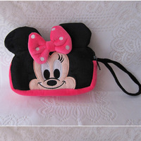 FREE SHIPPING Kawaii Cure Cartoon Character Pink Mickey & Minnie Mouse Pencil Bag Pen Organizer Stationery Kids School Supplies