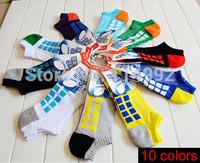 Hot Men's socks cotton terry towel socks plaid socks casual socks 10pairs / lot free shipping