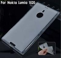 Thin soft TPU Silicone Back case cover for Nokia Lumia 1520 Free Shipping