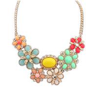 Vintage Women's Flower Crystal Gem Statement Necklace Fashion Necklaces for Women 2014 Necklaces & Pendants  CX198 coupon