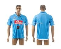 free shipping 2014-2015  SSC Napoli home thai soccer jerseys,soccer uniform,trainning jerseys embroidery