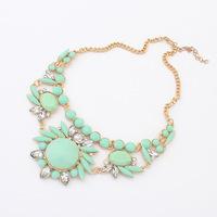 Fashion Modern Women's Stylish Crystal Necklace Statement Necklace Fashion Necklaces for Women 2014 Accessories CX188 coupon
