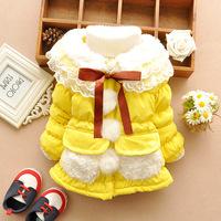 2014  girls baby clothing, winter thicken cotton-padded jacket,  girls baby snowsuit coats WCJ-025