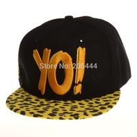2014  cap new  version  yo! letters  hip-hop baseball cap flat along  yo hat  Snapback Baseball Cap