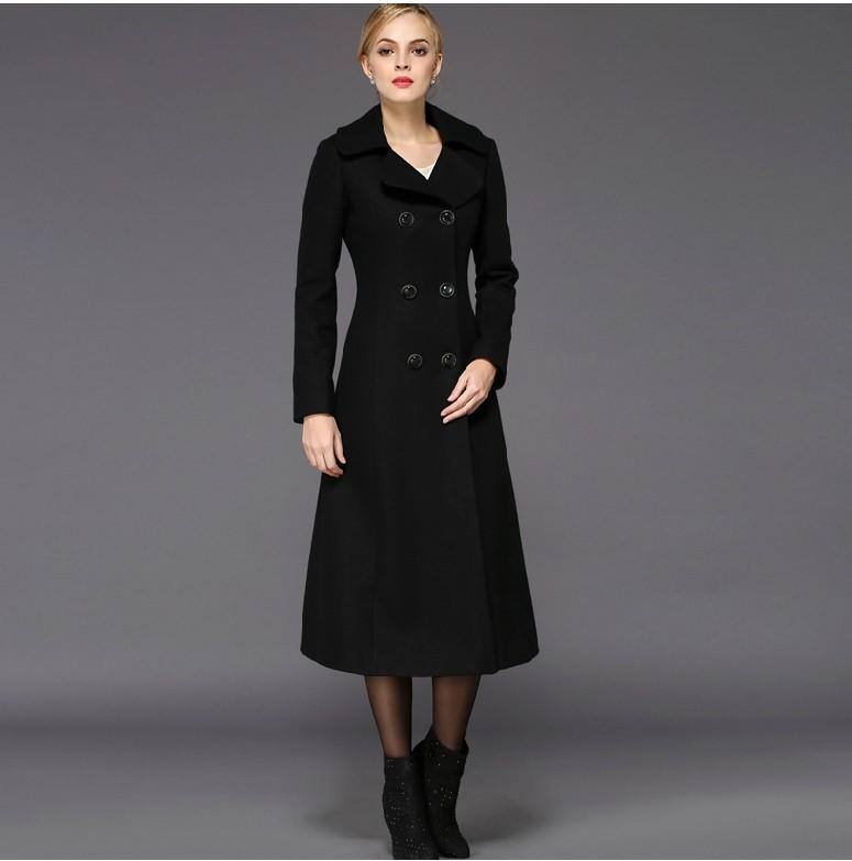 Long Wool Coat Womens