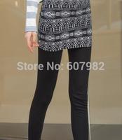 New Arrival Women Winter Leggings Knitting Cotton Legging Geometric Leggings Two-Pieces Hip Pants Legging Leggins For Woman