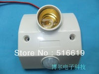 Human Body Induction Switch Lamp Holder Corridor Infrared Induction E27 Switch Socket 220V Photosensitive Delay Is Adjustable