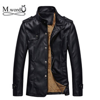 2014 new Winter men's Leather jacket with fur Male Windbreak Waterproof Lether Jackets Leather Coat casual Jacket