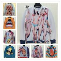 (Alice)new 2014 autumn winter fashion men/women's 3d sweatshirts funny print spoof monroe 3d hoodies sweater top 58