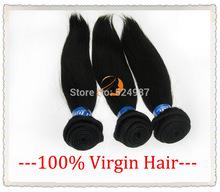 3Pcs Lot 6A Brazilian Virgin Hair Straight,12-30inch Unprocessed Brazilian Straight Human Hair Weave, Top Brazilian Virgin Hair(China (Mainland))