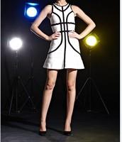 Free Shipping 2014 Ladies Sexy Club Party Vestido Quality Women White Aline Bandage Dress Party Evening Elegant Dress  HL567