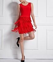 Free Shipping 2014 Ladies sexy Club Party Vestido Quality HL Sleeveless Red Tassel Bandage Dress Cute Red Wedding Dress HL568