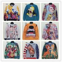 (Alice)free shipping 2014 autumn winter fashion men/women's 3d sweatshirts funny print spoof monroe 3d hoodies sweater top 59