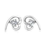 925 sterling silver stud earrings for women female Korean cute silver earring jewelry wholesale