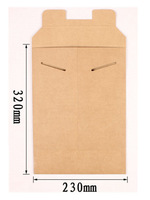 free shipping file bag in paper A4 folder for papers office supplier no printing 10pcs