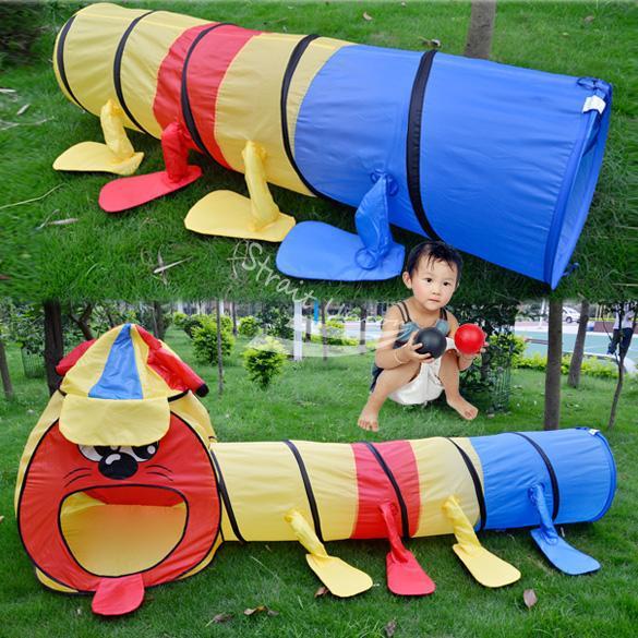 crianças menina menino portátil jogo colorido projeto brincar túnel sala grande tenda brinquedo teatro para crianças(China (Mainland))