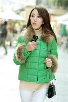 Women's winter parkas jackets short Slim jacket Down  luxury raccoon collar down parkas jacket for women female plus size PA-825