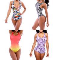 2014 Verao Moda Praia Triangl Swimwear Sexy High Waist Neoprene Bikini Biquini Bandage Push Up Monokini Bathing Swimsuit M L XL