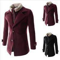 Foreign trade new winter 2014 men's fake two detachable lamb fur coat warm coat  down 8718