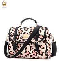 Handbag high fashion designer brands 2014 new women pu color block cartoon printed women messenger bags crossbody bags for women