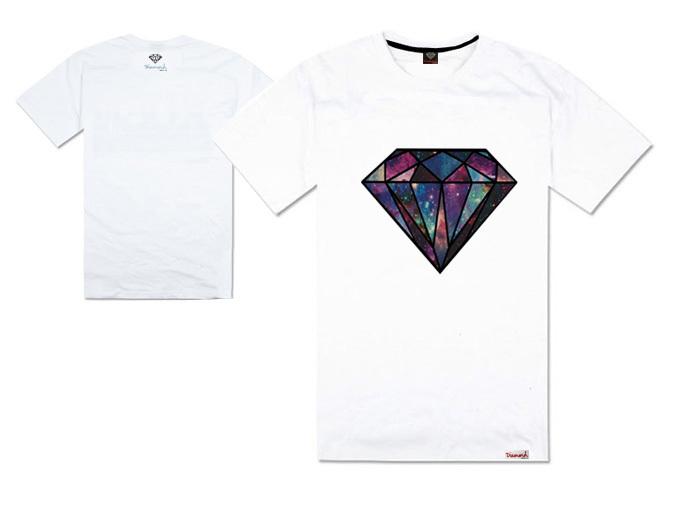 estilo coreano fornecer co diamante t- camisa homens hip hop vestuário casual impressão ao ar livre esporte curto- manga camisetas moda roupas(China (Mainland))