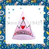 luxury little pirncess kid  girl baby happy birthday party decoration kits supplies favors girl  Cap Hat 36pcs/lot